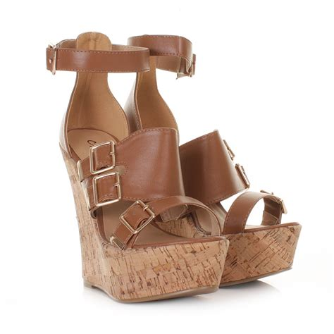 high cork wedge sandals womens high heel cork wedge gladiator platform sandals