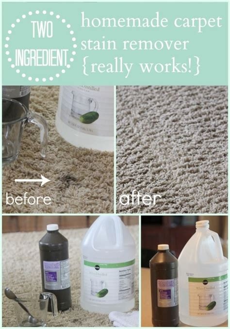 homemade carpet cleaner mix equal parts vinegar and hydrogen peroxide spray or blot on stain
