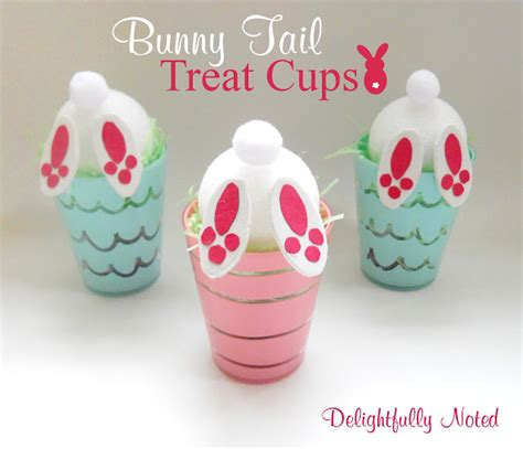 easter craft bunny tail treat cups delightfully noted