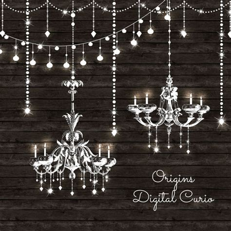 Chandeliers Clipart And String Lights Png And Vector Clip Chandelier String Lights