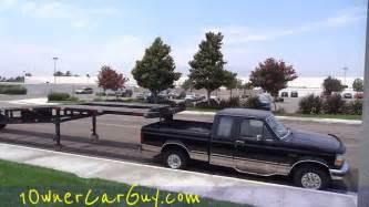 overloaded hauler 3 car trailer 5th wheel crazy under