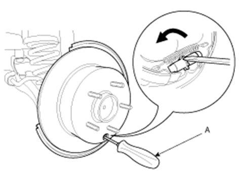 service manual rear drum removal 2012 kia soul hyundai elantra parking brake assembly repair procedures parking brake system brake system