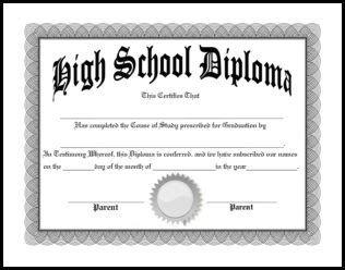 Free Homeschool Diplomas Template Maryland High School Diploma Template