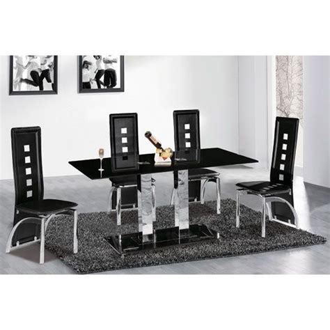 black glass dining table set 25 best ideas about black glass dining table on
