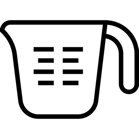 Measuring cup   Free food and restaurant icons
