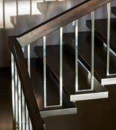 contemporary banisters and handrails brown and chrome modern stair rails stairs