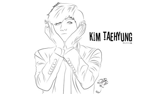 Bts V Coloring Pages by Taehyung By Lvlkatty On Deviantart