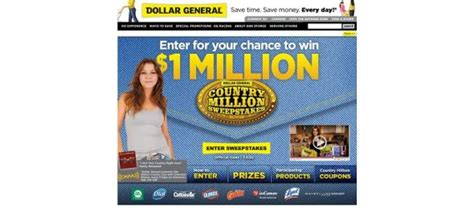Dollar General Giveaway - dollargeneral com countrymillion dollar general country million sweepstakes
