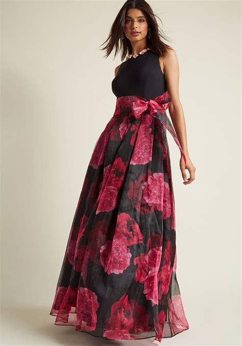 Ellisa Dress eliza j prestige floral maxi dress in black modcloth