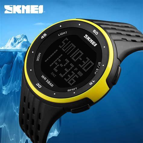 Jam Tangan Waterproof Skmei Dg1220 High Quality Material Murah skmei jam tangan digital pria dg1219 black