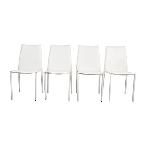 modern dining chairs white 77 all modern all modern white leather dining
