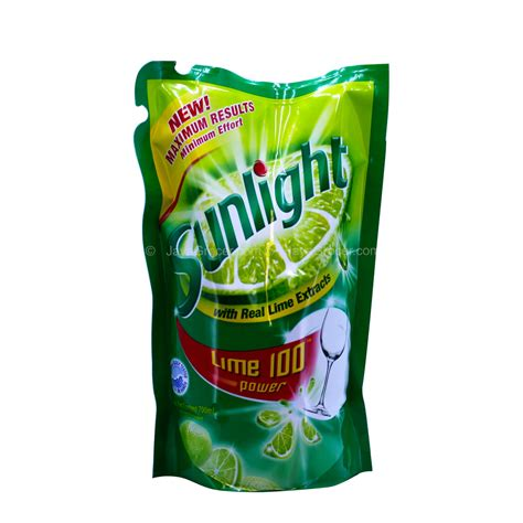 Sunlight Lemon New Refill 800ml jaya grocer sunlight lime 100 dishwashing liquid refill