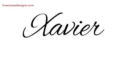 xavier tattoo designs xavier archives free name designs