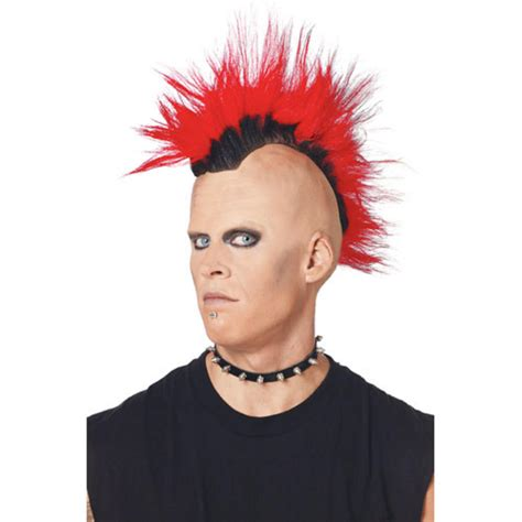 old rock hairstyles pmg adult 70 s 80 s style red punk rocker mohawk mohican