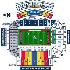 of arizona stadium map of arizona ticket office ticket