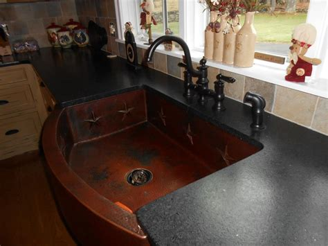Black Leather Granite Kitchen by Black Leathered Countertops Leather Look Of The