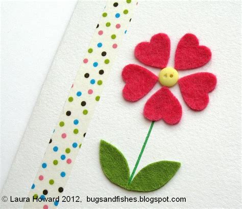 diy flower card template bugs and fishes by lupin diy felt flower card