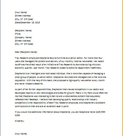 Reference Letter From Employer For Academic student reference letter document hub