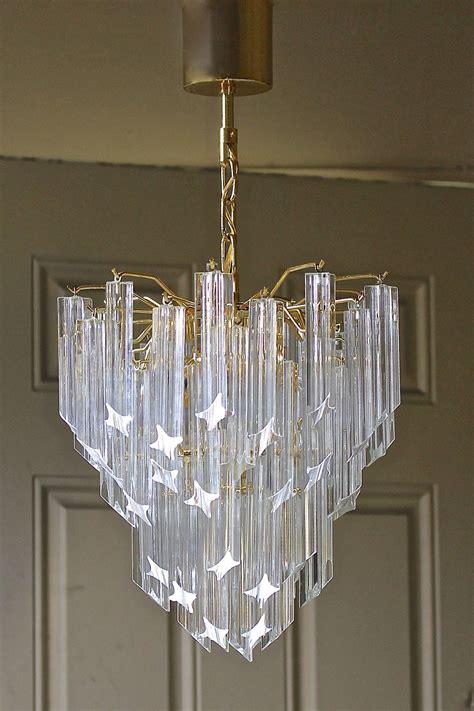Venini Italian Triedi Crystal Prism Chandelier At 1stdibs Chandelier Prism