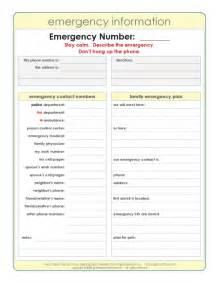 Emergency Phone Number List Template Emergency Numbers List Template Task List Template