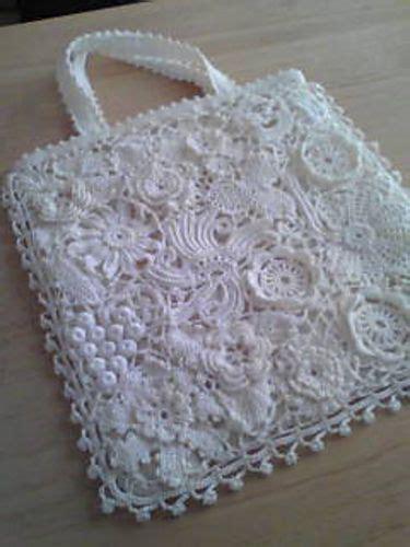 Crochet Lace Bag Pattern | irish crochet lace bag pattern crochet irlandais pinterest
