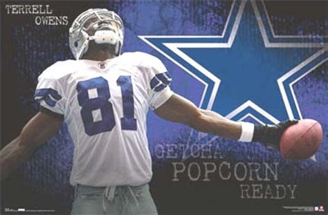 terrell owens dallas cowboys player poster posters photo