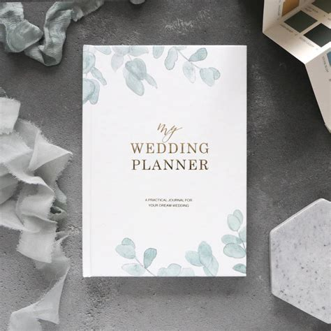 wedding planner book eucalyptus   engagement gift by blush