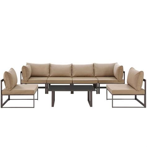 7 piece sectional sofa fortuna 7 piece outdoor patio sectional sofa set modern
