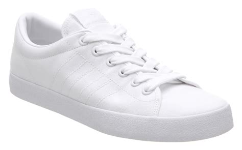 adidas indoor tennis clean white canvas trainers shoes
