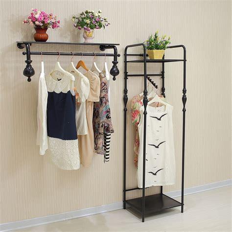 high end vintage clothing rack clothing store shelf
