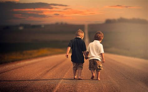 Kkpk Two Of Friends By two friends walking the road photography hd wallpaper