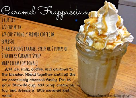 the fiery caramel frappuccino