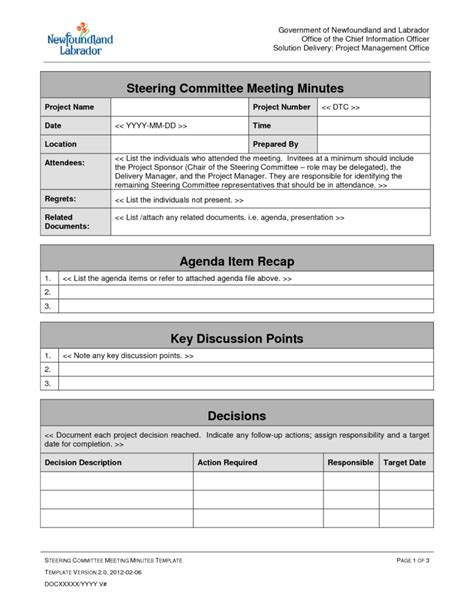 project kickoff meeting template kick meeting agenda for construction project best