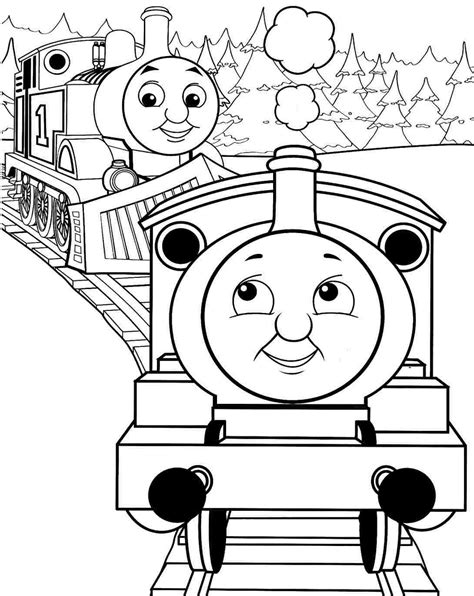 large coloring pages of thomas the train drawn railroad thomas the tank engine pencil and in