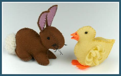 pattern for felt duck felt duckling and easter bunny template free tutorials