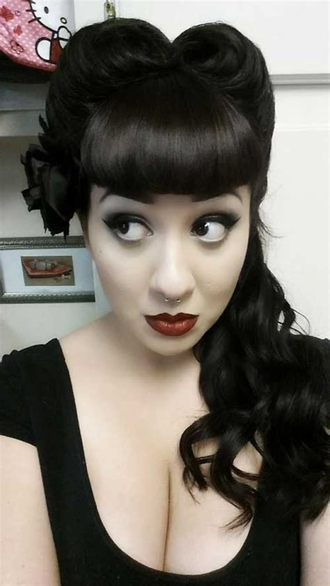 rockabilly bang curl rockabilly style hair for ladies hairstyles haircuts