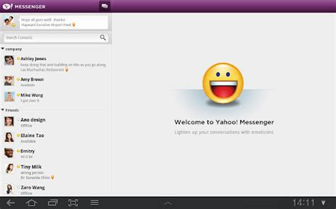 yahoo messanger apk yahoo messenger chat para yahoo y windows live apk
