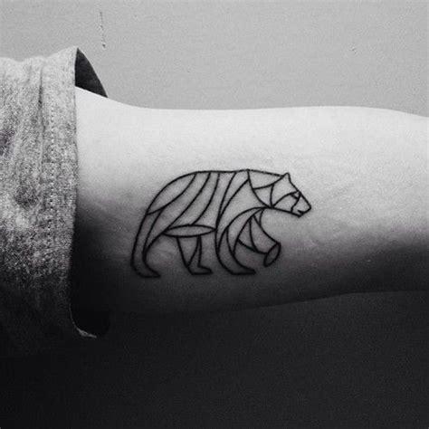 geometric bear tattoo small geometric tattoo tumblr