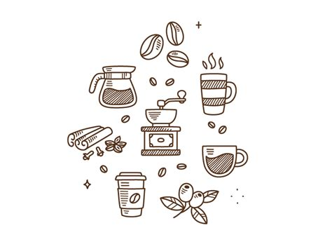 doodle coffee coffee doodles by irina mir dribbble