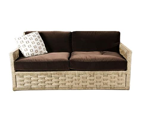 indoor wicker sectional hopkins rope sofa sofas style indoor furniture the
