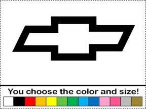 chevy bowtie symbol logo emblem vinyl decal car truck