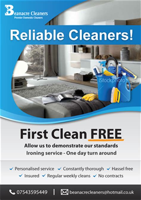 design cleaning flyer 70 bold modern flyer designs for a business in united kingdom