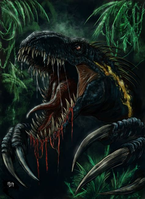 the art of worldly buckleyillustrations my shot at the indoraptor making my first bit of jurassic world fallen