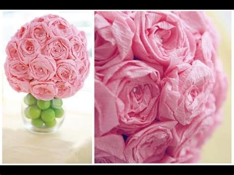 How To Make Flower Paper Balls - how to make beautiful paper flower bouquet step