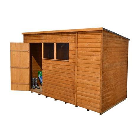 Garden Shed 10 X 6 by 10 X 6 Overlap Pent Wooden Garden Shed Single Door 2
