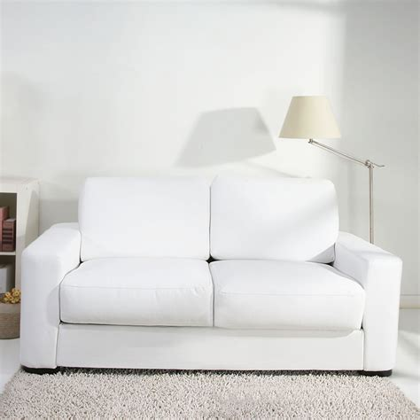 winston white faux leather sofabed next day delivery