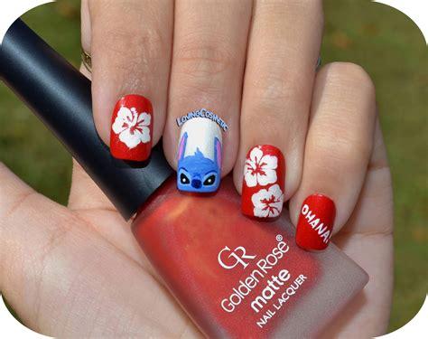 tutorial nail art stitch nail art lilo stitch lovingcosmetic