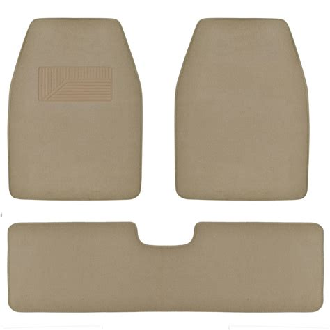 suv van car floor mats in medium beige quality husky carpet rug 3pc w liner ebay