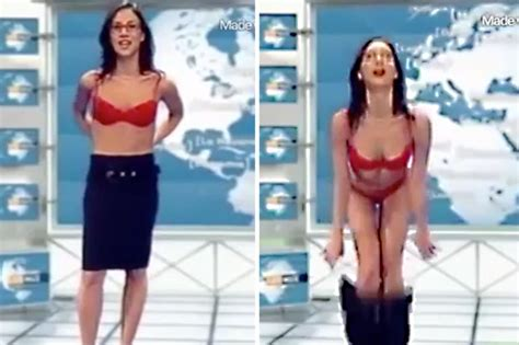 Sexy French News Reader Strips Totally Naked During Live Tv Report Daily Star