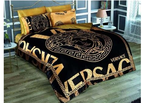 versace bed versace black gold medusa satin bed set queen size